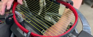 how to string a tennis racket