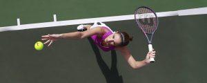 how to toss a tennis ball