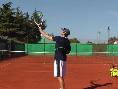 tennis slice Serve