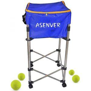 ASENVER Tennis Ball Cart Ball Hopper