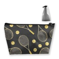 Funny Colourful Tennis Racquets And Tennis Balls Storage Bag Pouch